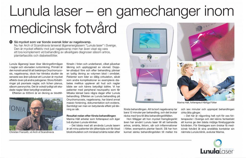 Artikel om Lunula laser